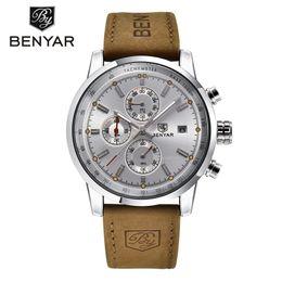 стоп-часы Скидка  BENYAR Sport Watch Men Waterproof Date Display Relogio Masculino Male Clock Man's Outdoor Stops Wristwatches Gift