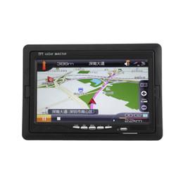 2019 televisores do painel do carro Monitor do Rearview do carro de TFT LCD de uma cor de 7 polegadas com entrada video 2