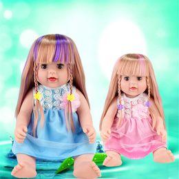 2020 baby schöne puppen Neugeborenes Baby-Puppen 55CM 21.65inch schöne reale Reborn Looking Silikon 21,65 '' Full Body nette weiche Baby-Lebend-Puppe für Mädchen Jungen günstig baby schöne puppen
