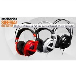 Livre jogo sons on-line-SteelSeries Siberia V2 Tamanho Grande Jogo Fone de Ouvido Com Fio de 3,5 mm Interface HD Qualidade de Som Frete Gratuito