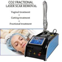 2019 co2 tratamento da pele Máquina de laser de CO2 RF tubo de rejuvenescimento da pele do laser de CO2 Máquina de laser fracionado CO2 com cabeça de tratamento vaginal co2 tratamento da pele barato