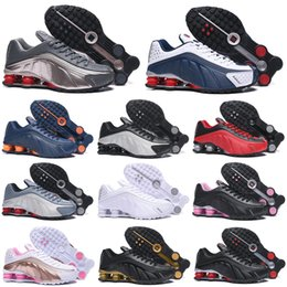 Nike Air Shox 301 Zapatos para hombre Blanco Negro Plata Rojo Dorado Triple Blanco Mujeres Zapatillas Negro Blanco Rosa Rosa Zapatos transpirables 36-46 desde fabricantes