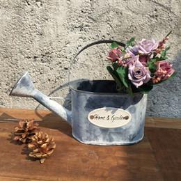 2019 metallwannenpflanzer Blumenwannenblumentopf-Pflanzerhauptdekorationsmetalltopf-Wassereimer, der Blumeneimergarten wässert rabatt metallwannenpflanzer