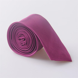 узкая ширина ленты Скидка Novelty High Quality Solid Color Narrow Neckwear Mens Skinny Silm Neck Tie Wedding Party Ties 5 cm width Ties Men's JC0015