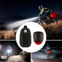 Ciclismo Seguridad Luces traseras delanteras Combinación T6 Faros de carga solar + Negro Luces solares traseras Traje Accesorios para bicicletas desde fabricantes