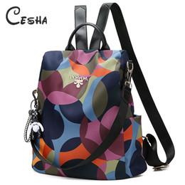 Bonitas mochilas para meninas on-line-Luxo Anti Theft mochila de viagem por Mulheres Alta Qualidade Waterproof Oxford Mochila bonito do estilo Girls School Bag