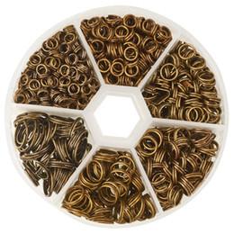 Canada Anneaux à double anneau de fractionnement en bronze antique à 1 boîte, sans nickel cheap iron split ring Offre