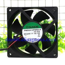 Fã original do sunon on-line-Original SUNON 12038 12 CM 24 V 10.1 W PMD2412PMB3-A ventilador do Inversor