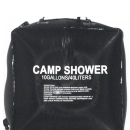 2019 saco de banho de acampamento solar 40L 10 Gallon Camping Caminhadas Acampamento Solar Saco de Chuveiro Acampamento Ao Ar Livre Saco de Água Do Chuveiro Acampamento Ao Ar Livre Viajar Água De Banho saco de banho de acampamento solar barato
