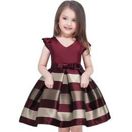 Canada Bébé Filles Robe Rayée Pour Les Filles Formelle Robes De Fête De Mariage Enfants Princesse Robe De Noël Costume Enfants Filles Vêtements Offre