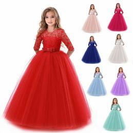 Canada 2019 Summer Girl Lace Dress Long Tulle Teen Girl Party Dress Elegant Enfants Vêtements Enfants Robes Pour Filles Princesse Robe Offre