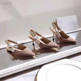 sapato de peep toe branco Desconto High End Mulheres Stiletto Heels, Salto Alto Bombas Slingback em Tecido Técnico Nude com Tamanho Da Fita 34-41