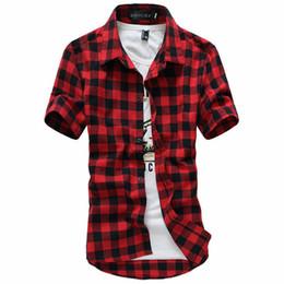 2019 Nova Moda Mens Casual Verão Camisa de Vestido Dos Homens Xadrez Camisas de Manga Curta Tops Homens Camisa de Manga Curta Casua M-3XL de Fornecedores de camisa holgada por atacado