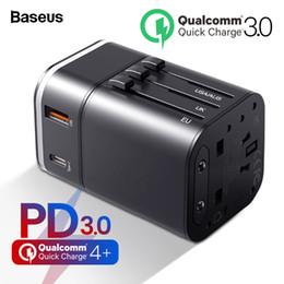 Baseus Hızlı Şarj 4.0 3.0 Usb Şarj Evrensel Seyahat Adaptörü Usb C Pd Qc Qc4.0 Qc3.0 Hızlı Şarj Uluslararası Priz T6190610 supplier fast charge plug nereden hızlı şarj fişi tedarikçiler