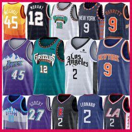 Camisa 45 on-line-NCAA Kawhi 2 Leonard 12 Ja Morant RJ 9 Barrett Universidade Jersey Donovan 45 Mitchell Mike Conley 10 Rudy 27 Gobert Zion 1 mens Williamson