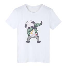 Pandabildhemd online-tupfen lustige aminal kawaii cartoon panda t-shirts gedruckt hip hop männer frauen t shirts casual tops t shirt kurzarm t-shirt