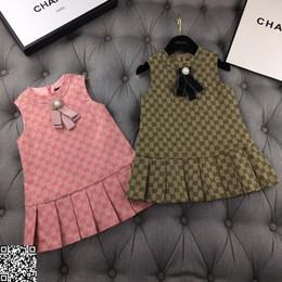 2019 rosa prinzessin schleier Mädchen Kleid Kinder Designer Kleidung Herbst und Winter schließen Tuch Baumwolle Weste Kleid zwei Farben Größe 100-150cm Kleider