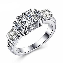 bagues nobles Promotion Couple bijoux Parfait et exquis design noble atmosphère cristal artisanat coloré bague de couple zircon