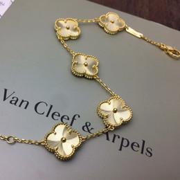 2019 una collana dell'aeroplano di carta di direzione vendita calda oro 18k cinque fiori di trifoglio braccialetto di lusso desinger donne gioielli bracciali gioielli moda in argento top brand