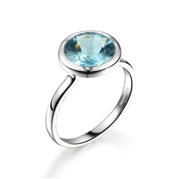 natural blue gemstones Coupons - DORMITH 925 sterling silver natural 3.4 s blue topaz gemstone rings for women jewelry size7#8# available