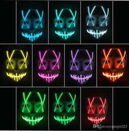 brinquedo dançando spiderman Desconto LED brinquedo máscara máscara engraçada sinal de néon Led tira flexível Luz Brilho EL Wire Rope rosto Neon Light Halloween Controlador de luzes de Natal