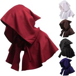 Cadılar bayramı Ortaçağ Kapüşonlu Pelerin Gotik Ceket Vampir Elbiseler Cosplay Fantezi Elbise Pelerin Hood Pelerin Yetişkin Parti Şapkaları nereden saç tokmak şeritleri tedarikçiler