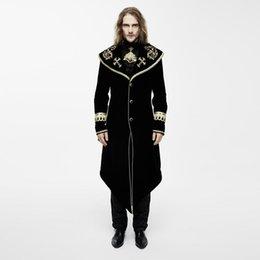 Мужское винтажное пальто с золотой вышивкой CT05501 / CT05502 от Поставщики длинный бежевый плащ мужской