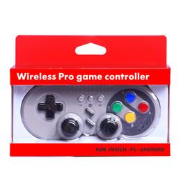 Controladores inalámbricos windows online-Control inalámbrico Bluetooth Gamepad Joystick para Nintendo Switch Pro Windows PC Mac OS Android Rumble controles de vibración