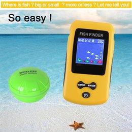 2019 rilevatore di batterie Colorful Wireless Fish Finder Sonar Sensor trasduttore di profondità Ecoscandaglio batteria ricaricata Fish Finder sconti rilevatore di batterie