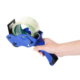 2019 nastro di imballaggio in plastica 1pc nastro di tenuta Packer Tape Dispenser Capace 6 centimetri Larghezza di plastica sigillato Cutter Holder strumenti manuali macchina imballatrice nastro di imballaggio in plastica economici