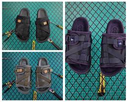 201V nylon VisVim x SOPHNET. Christo Designer Shoe Semelle Goodyear Toboggans Pantoufles Summer Beach Tongs House Sandales avec boîte ? partir de fabricateur