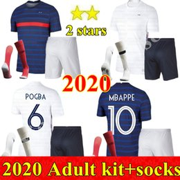 france soccer kit Promo Codes - 2020 Men kit France Soccer jerseys LE SOMMER HENRY MBAPPE ANTOINE GRIEZMANN PAUL POGBA GIROUD ZIDANE KANTE LLORIS adult kits Football Kits