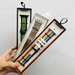 Ленточные ящики онлайн-Универсальный смарт-ремешок для часов Розничный пакет для iWatch Strap box Горячая мода Простой пакет ремешок для часов Box для Apple Watch