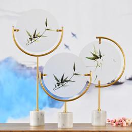Adornos de mármol online-Pasillo de lujo de acrílico adornos de mármol boda favorece la artesanía del regalo de centros de mesa de boda habitación de hotel oficina en casa decoración Porche