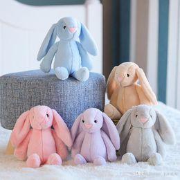 lapins de pâques en peluche Promotion 5 couleurs 35cm Lapin Lapin Peluches Poupée Lapin de Pâques en peluche avec de longues oreilles animaux en peluche cadeaux enfants de jouets