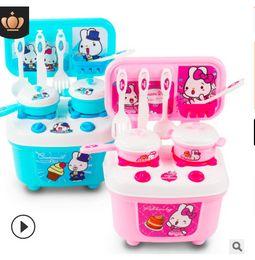 2019 cachorros de brinquedo de plástico para crianças Crianças fingir jogar uma simulação de família cozinha meninos e meninas de cozinha utensílios de cozinha utensílios de cozinha utensílios de cozinha brinquedos