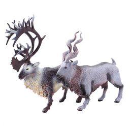 2019 toy goats Neue Weihnachten Elch Modell Feste Wildtier Modell Spielzeug Rentier Ziege Dekoration Exponate günstig toy goats