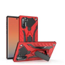telefon rüstung Rabatt Designer-Handyhülle für Samsung Note 10 10Pro, stoßfeste Hybrid-Ritterhülle Slim Armour TPU + PC-Handyhülle mit Ständer für S10 S10E Plus