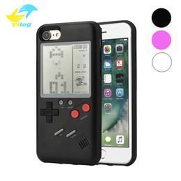 Protection de l'électronique en Ligne-Coque téléphone Tetris Game Machine pour iPhone 6 7 8 8 X XS MAX XR couvre électronique coque PC Protection Protection Ajusté Retour