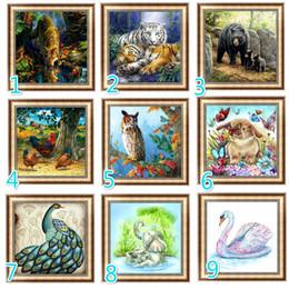 Bordado crianças diy on-line-Diy 5d Diamante Pintura Animal Rodada Diamante Mosaico Imagem Ponto Bordado Padrão Bordado Handmade Crianças Presente