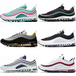 7d61fc101 97 OG Mens Running Shoes Gym Red Persian Violet SE South Beach Triple Black  White Women Fashion Sports Designer Sneakers 36-45