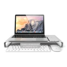 2019 laptop imac pro Alluminio Desktop Monitor Notebook Laptop Stand Space Bar Riser scrivania antiscivolo per MacBook Air 13 Pro Retina auto laptop imac pro economici