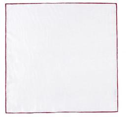 Canada Personnalisé Mouchoir Blanc 100% Soie Roulé à la Main Couleur Unie Poche De Poche Pour Mariage Fête D'affaires Offre