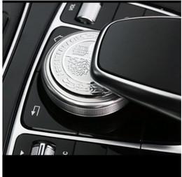 Auto aufkleber baum online-Apple Tree Mittelkonsole Multimedia Knob Trim Aufkleber Abdeckung für Mercedes Benz AMG GLE GLS ML GLS VG Klasse Auto Styling