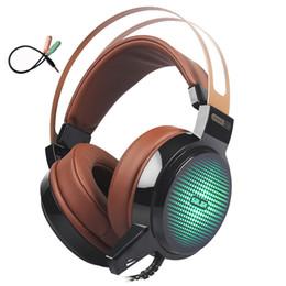 Cablaggio del microfono del pc online-2019 nuove cuffie da gioco Cuffie stereo per PC cablate Cuffie con microfono per computer Cuffie da gioco 3,5 mm