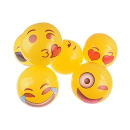 Aufblasbare spielsachen online-30CM PVC Beach Ball Toys Emoji Expression Face Inflatable Ball Adult Children Sand Play Water Fun Toys MMA1891