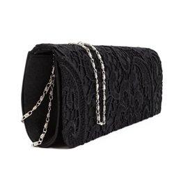 d17b74ae5c05f abendtaschen schwarze spitze Rabatt Satin Floral Lace Designer Clutch  Abendtasche Damen Party Hochzeit Frauen