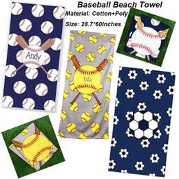 2019 toalha de fibra 150 * 75 cm de beisebol toalha de praia retângulo de futebol de softball toalhas de desporto cobertores de microfibra superfino fibra praia tapetes toalha de fibra barato