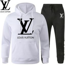 Jogging femme casual en Ligne-NOUVEAU Série sweatsuit Designer Survêtement Femme Homme hoodies + pantalon Vêtements pour hommes Sweat-shirt Casual Tennis Sport survêtements de jogging