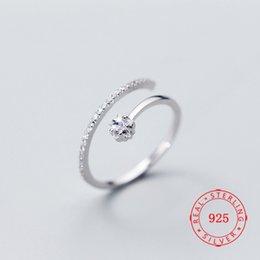 Cz 925 anillo de porcelana online-China, joyería de alta calidad, plata de ley 925, diseño único abierto, ajuste tamaño, pequeño anillo de estrella cz para navidad